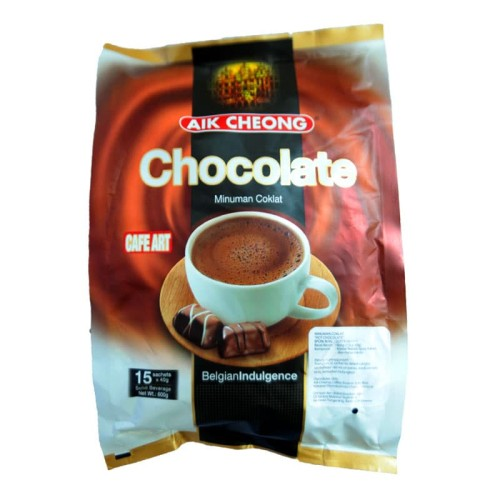 Foto Produk Aik Cheong Hot Chocolate 15 Sachets x 40 gram dari Snack Made