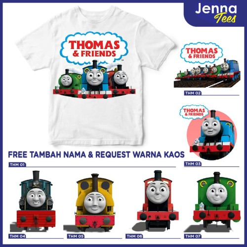 Foto Produk Thomas And Friends - Kaos / Baju Anak Gratis cetak nama custom raglan dari Jenna Tees