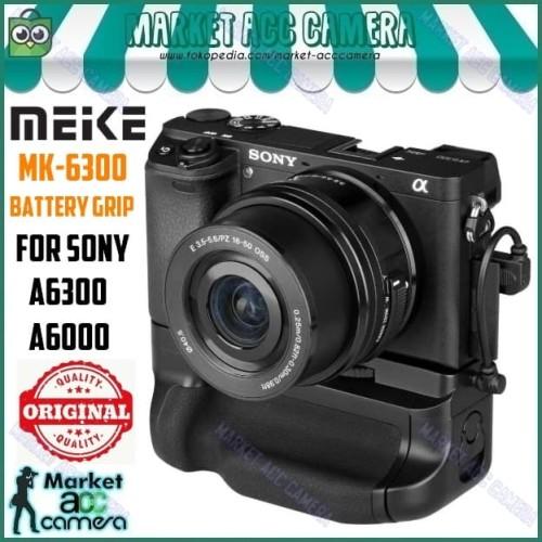 Foto Produk MEIKE ORIGINAL MK-6300 Battery Grip for Sony Alpha A6000/A6300 dari Market ACC Camera