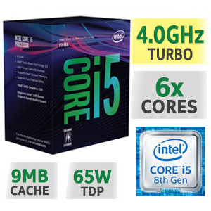 Foto Produk Intel Core i5 8400 BOX 2.8Ghz (Socket 1151 Coffee Lake) dari QB Store