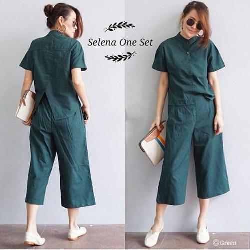 Foto Produk 925 Selena One Set Dark Green dari fashion_tnabang