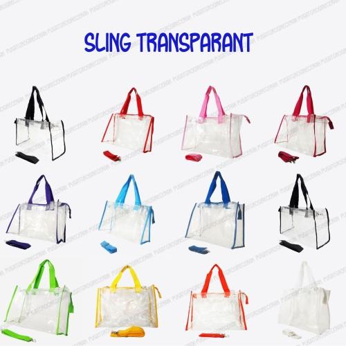 Foto Produk Sling Transparant Diaper Bag 2in1 dari Pusat Grosir Eceran