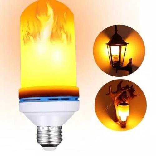 Foto Produk Lampu Api LED / Obor LED E27 - 9watt Flame Effect 3in1 dari kurnia jaya gm