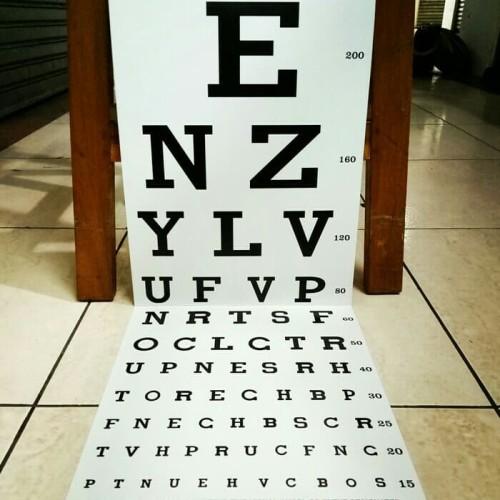 Foto Produk Snellen chart / Alat tes mata / kertas tes mata dari Medisa Alkes