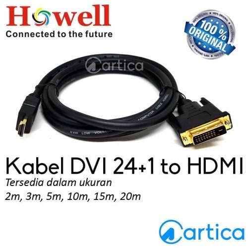 Foto Produk Kabel DVI 24+1 to HDMI 2m Howell dari Artica Computer