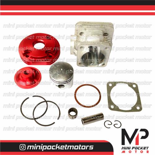Foto Produk Block + Piston Head Pisah ZK Racing 44mm motor mini gp mini trail 49cc dari Mini Pocket Motor