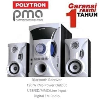 Foto Produk Multimedia Speaker Polytron PMA9505 PMA 9505 Bluetooth USB MP3 FM - Hitam dari Miami
