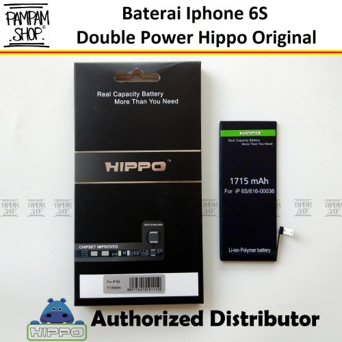 Foto Produk Baterai Hippo Double Power Original Apple Iphone 6S Batrai Batre Ori dari PAMPAM SHOP