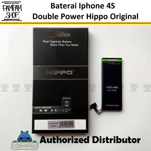 Foto Produk Baterai Hippo Double Power Original Apple Iphone 4S Batre Batrai Ori dari PAMPAM SHOP
