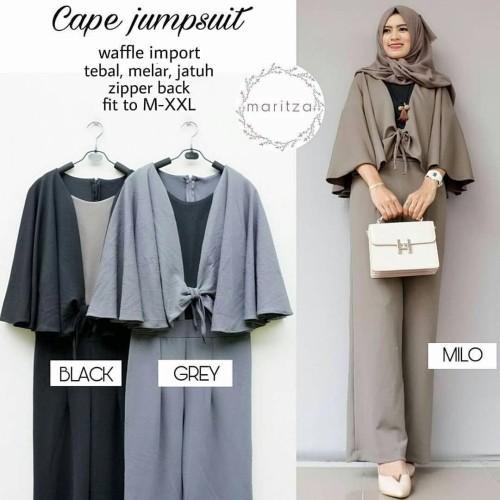 Foto Produk Baju Gamis Wanita Muslim Terbaru Cape Jumpsuit murah dari hijabafwa