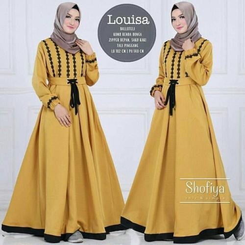Foto Produk Fashion Muslim Baju Gamis Wanita Terbaru Louisa Dress murah dari hijabafwa