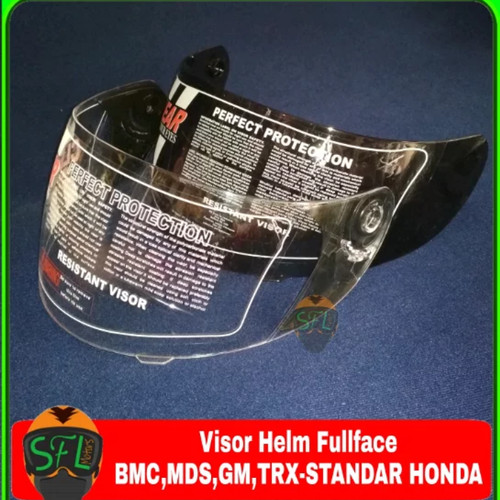 Foto Produk Kaca - Visor Helm Full Face BMC-MDS-GM-TRX-Standar Honda dari SFL Motor's