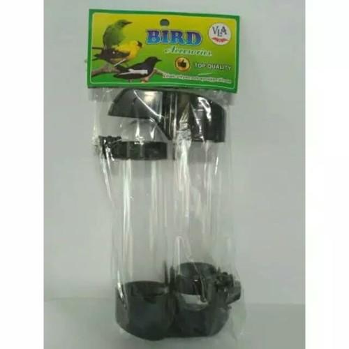 Foto Produk Tempat Makan Minum Burung Dispenser Panjang Bulat Isi 2Pcs dari BINTANG KICAU