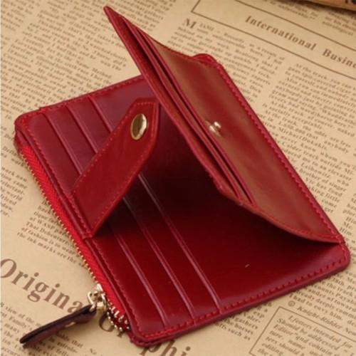 Foto Produk Dompet Kartu Resleting / Dompet Kartu Wanita/Tempat Kartu/Card Holder - Merah dari POBA Indonesia