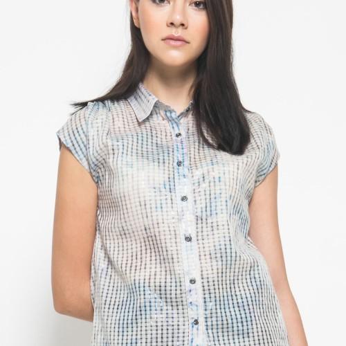 Foto Produk Sophistix Cap Sleeve Blouse Lengan Pendek Warna Biru Muda - Biru Muda, S dari Sophistix Official Store