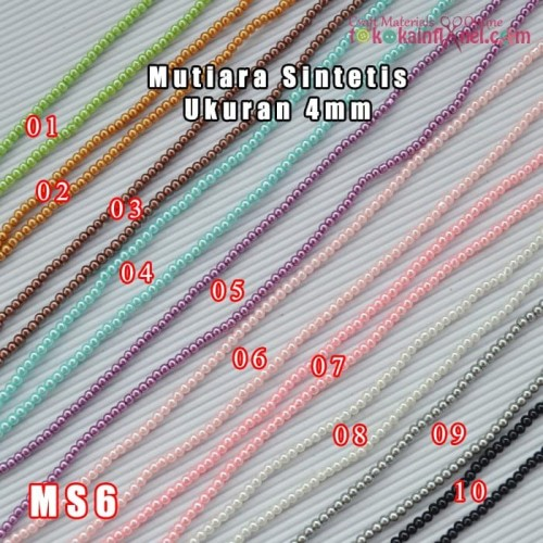 Foto Produk MS6 Mutiara Sintetis uk 4mili (1 string panjang +/- 75cm) dari Toko Kain Flanel dot com
