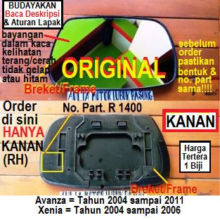 Foto Produk Refill + Breket Kaca Spion Original Avanza Xenia Kanan Sopir (1 Buah) dari Aulia Motor Lubuk Basung