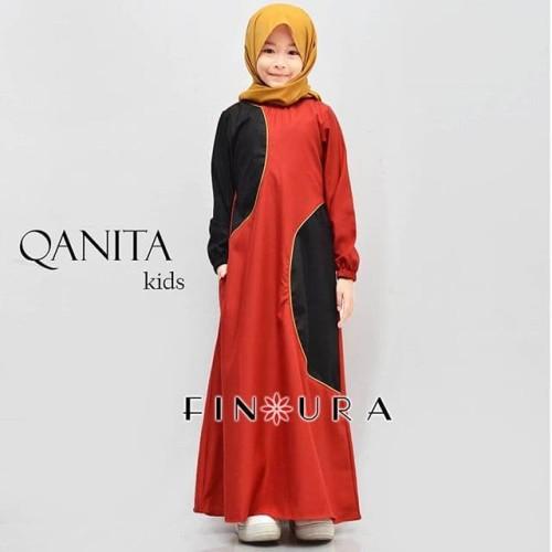 Foto Produk Gamis Anak / Qanita Kids by Finoura (Merah) dari finoura