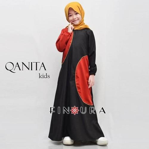 Foto Produk Gamis Anak / Qanita Kids by Finoura (Hitam) dari finoura