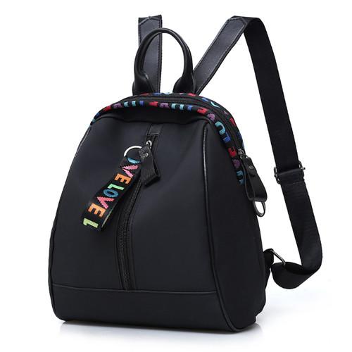 Foto Produk Tas Korea Ransel Wanita Mini Love Color Backpack (LJY05) - Hitam dari tkm online store