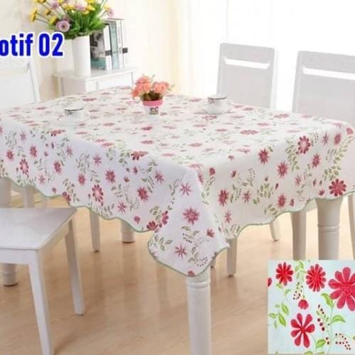 Foto Produk SQUARE Peva Taplak Meja anti Air-Taplak Meja Plastik dengan Backing - MOTIF DUA dari AlfaIndo