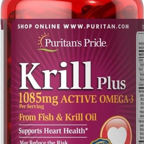 Foto Produk Krill Oil 500mg+ High Omega-3 1085mg Concentrate 60 sg Puritan USA dari SUPLEMEN SEHAT 99