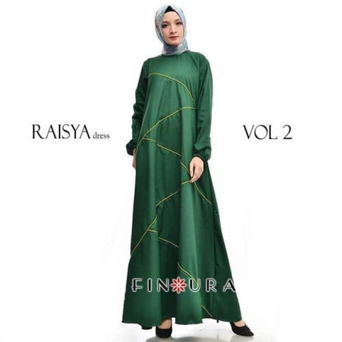 Foto Produk Raisya Dress Vol 2 by Finoura (Hijau) dari finoura