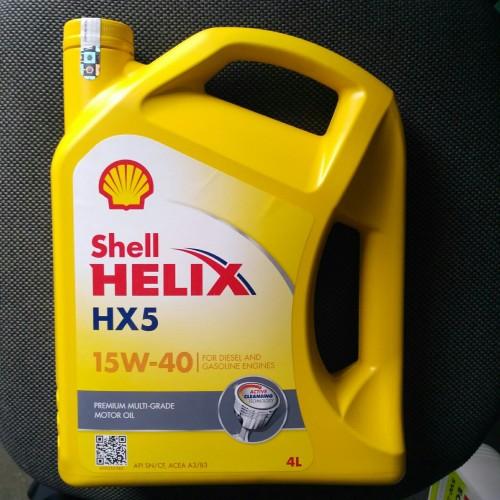 Foto Produk oli shell Helix HX5 15w-40 100% asli 4liter khusus gosend dari Eka Jaya otista