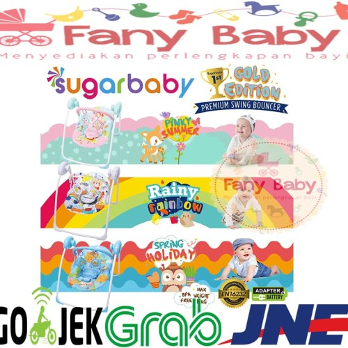 Foto Produk Sugar Baby Gold Edition Premium Swing Bouncer 3 MOTIF - Spring Holiday dari Fany Baby ITC Kuningan