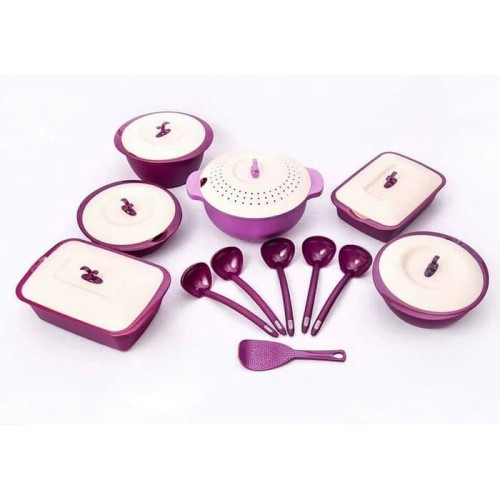 Foto Produk Asvita Emerald Family Set 6 Pcs Purple Ungu Wadah Saji Makanan dari Iceuro19