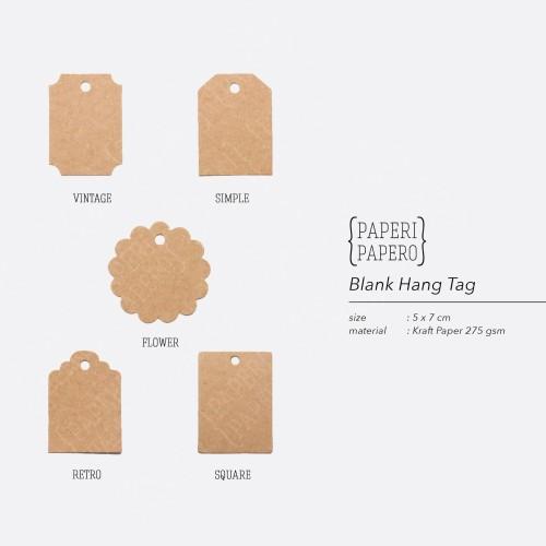 Foto Produk Blank Hangtag Rustic Coklat - Hiasan Hampers / Kemasan / Packaging - Vintage dari {Paperi Papero}
