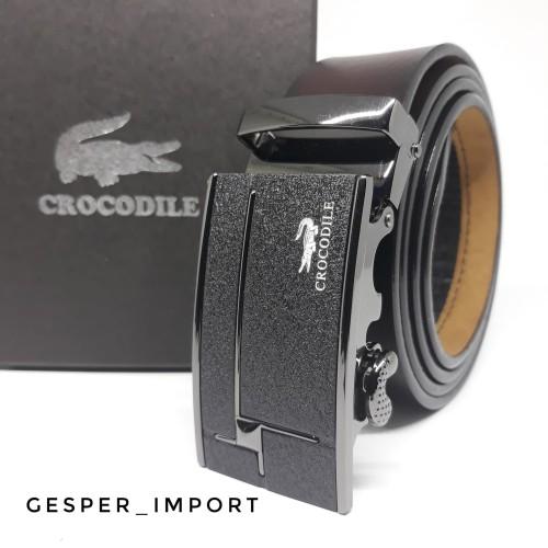 Foto Produk GESPER PRIA CROCODILE MODEL REL IMPORT TALI ASLI KULIT dari gesper_import