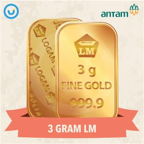 Foto Produk UD - Emas Batangan LM Antam 24K Berat 3 Gram - Terima Buyback dari Usahadinar