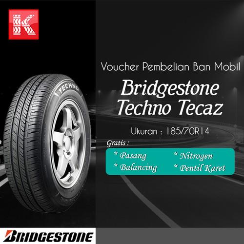 Foto Produk Ban Mobil Bridgestone New Techno Tecaz 185/70R14 Vocer  dari Kiosban