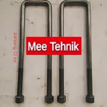 Foto Produk U Bolt Pegas Per 5/8 X 12 X 2 3/4L dari Mee Online Order