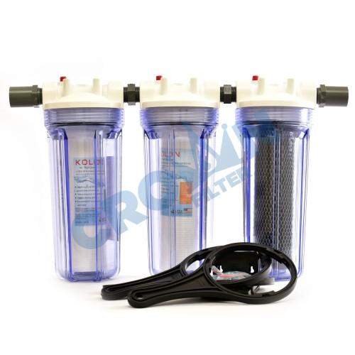 Foto Produk Paket EKO 3 - Saringan / Filter Air Siap Pakai 3 Housing - TIGA PER EMPAT, Eugen dari Crownfilter