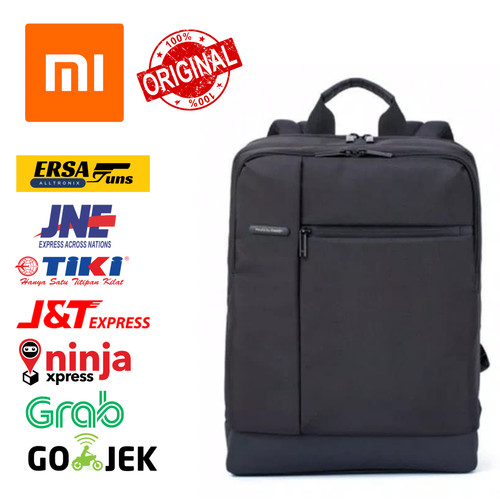 Foto Produk Xiaomi Mi Classic Business Style Polyester Leisure Backpack Bag Black dari Ersaguns