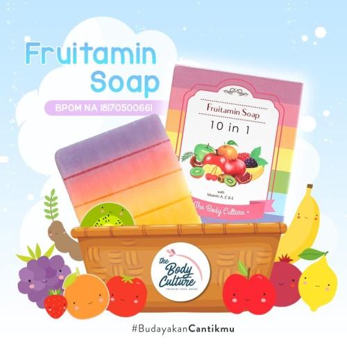 Foto Produk THE BODY CULTURE FRUITAMIN SOAP 10 IN 1 BPOM ORIGINl - FRUITAMIN SOAP dari Jane Kosmetik