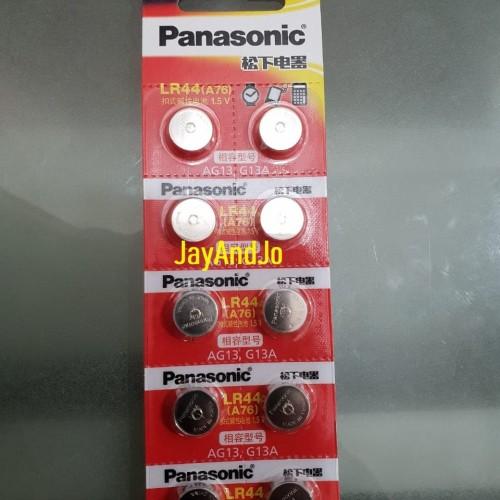 Foto Produk Panasonic Baterai LR44 - Battery LR44 1.5V dari jayandjo