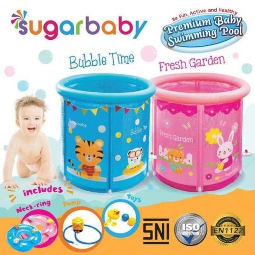 Foto Produk Sugar Baby Premium Baby Swimming Pool - Baby Spa - Kolam Bayi - Biru dari Aneka Ria Online Shop