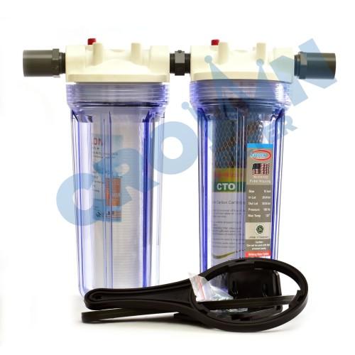 Foto Produk Paket EKO 2 - Saringan / Filter Air Siap Pakai 2 Housing - TIGA PER EMPAT, Eugen dari Crownfilter