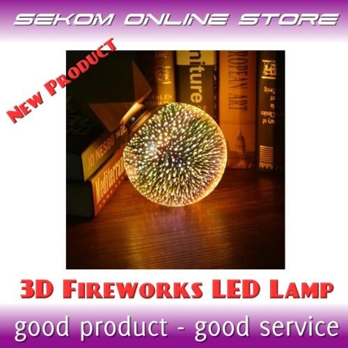 Foto Produk Lampu LED Efek Kembang Api 3D - 3D Fireworks LED Lamp - BIG 125mm dari SEKOM ONLINE STORE