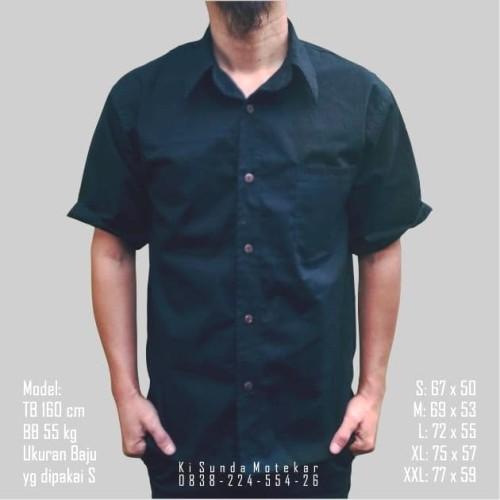 Foto Produk Kemeja Polos Tangan Pendek dari Ki Sunda Motekar