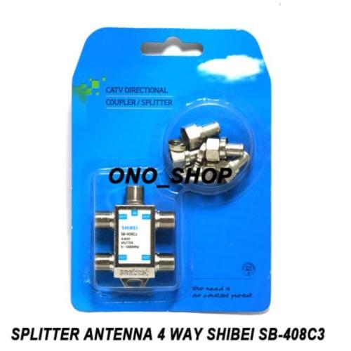 Foto Produk Splitter Antenna 4 Way Shibei SB-408C3 dari Toko Yuyun Pesona