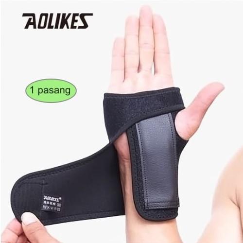 Foto Produk Aolikes 1676 Wrist Weightlifting Hand Carpal Tunnel Injury Splint Gym dari Aolikes Indonesia