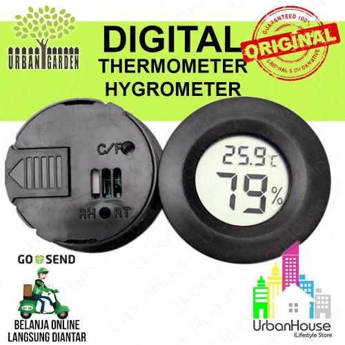 Foto Produk Digital Thermometer Hygrometer Ukur Suhu dan kelembaban Temp Humidity dari Urban House