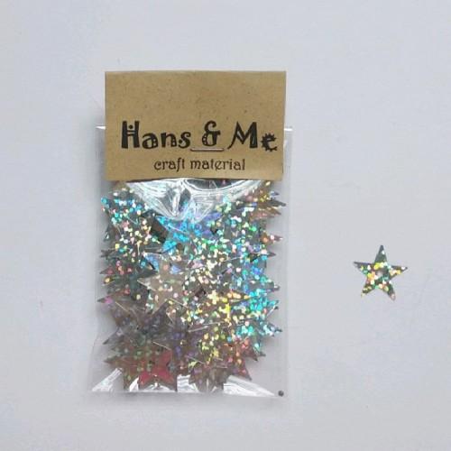 Foto Produk Payet Manik Bintang Silver Laser 15mm dari Hans and Me