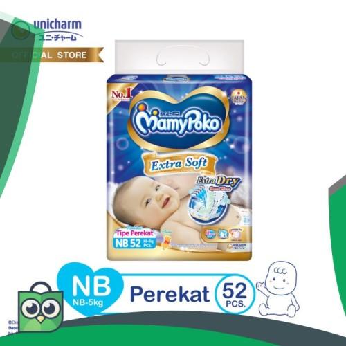 Foto Produk MamyPoko Popok Perekat Extra Soft - NB 52 dari Anggis Shop.ID