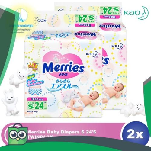 Foto Produk Merries Baby Diapers S 24S Twinpack dari Anggis Shop.ID