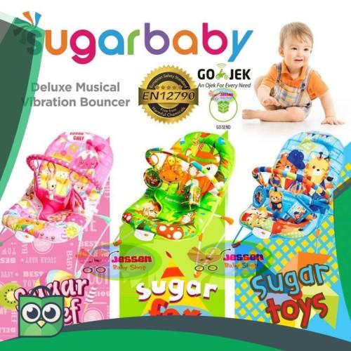 Foto Produk JessenBabyShop Sugar Baby Deluxe Musical Vibration Bouncher 1 Recline dari Anggis Shop.ID
